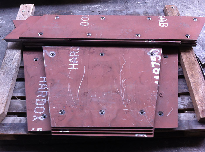 Hardox500 Şut Aşınma Plakaları